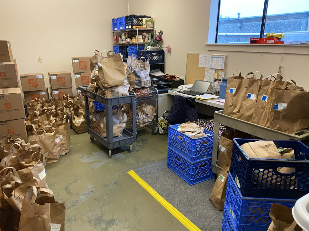 Groceries to Go office during emergency operations March 2020